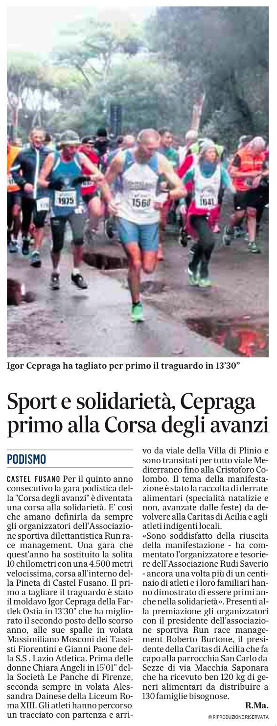 Igor Cepraga primo alla corsa degli avanzi 2016